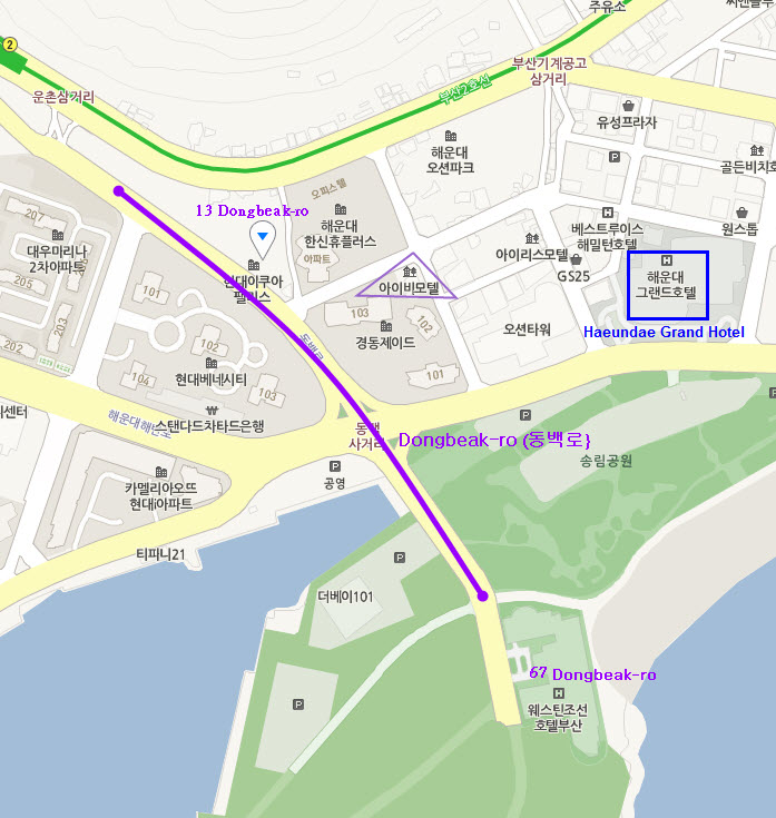 Dongbeak-ro location