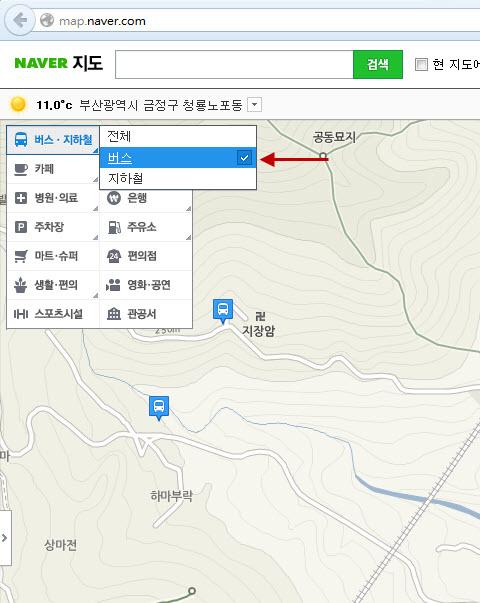 如何查詢 Naver 巴士路線